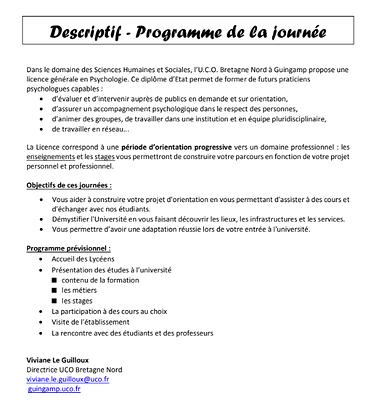 Licence Psychologie - Université Catholique de l'Ouest Bretagne Nord (UCO Bretagne Nord) capturedu2018-10-1116-32-58